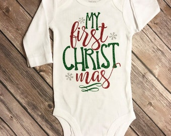 My first Christmas bodysuit, Christmas bodysuit, Christmas bodysuit, babies first Christmas, baby shower gift, babies first