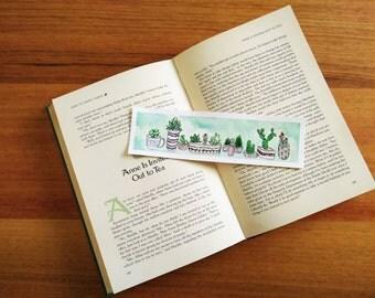 Watercolour Cacti Bookmark