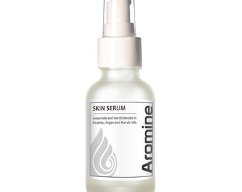 Aromine Skin Serum (Rosehip, Argan, Immortelle and Neroli Blend), 30ml in Glass Bottle