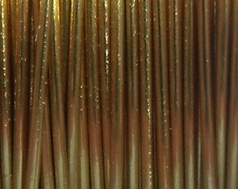 10 meter modeling wire brass wire 0, 4 mm gold