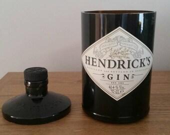 Hendricks Gin Bottle Upcycled
