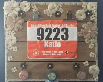 Personalized Pallet Bib and Medal Holder