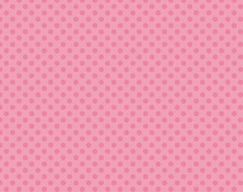 Riley Blake, Small Dot, Tone on Tone Hot Pink, fabric by the yard