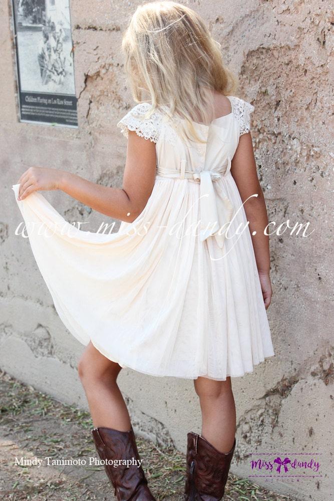 Sienna Dress- Boho Flower Girl dress, Rustic girl dress, Country Flower Girl, Crochet Girls Dress, Crochet Baby Dress,Beach Bohemian Wedding