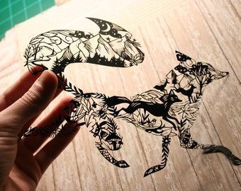 Original Paper Cutting - What does the Fox say?