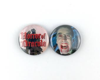 "Horror of Dracula (1958 Hammer) - 1"" Button Pin Set"