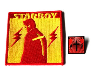 """The Weeknd """"Starboy"""" Pack (Pin and Patch)"""