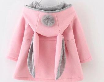Bunny ear puffball coat