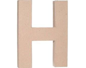 "Paper Mache 12"" Letter H"