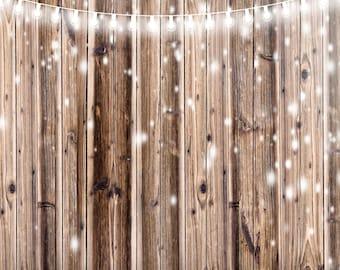 Lights on Rustic Wood Planks Backdrop (HDY-VS-076)