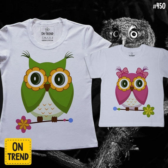 Items Similar To Owl T Shirt Summer Clothes Family Look