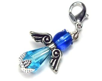 Pendant charm Royal Blue azure blue, sky blue, Royal Blue, angel charm-for charm bracelet necklace colorful-mixx-DESIGN