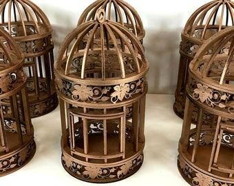 Bird Cage Lot, Wedding Centerpiece Lot, Bird Centerpieces, Wooden Wedding Centerpieces, Painted Birdcages, Wedding Decoration, Bridal Shower