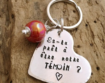 Witness Personalised Message French Keyring