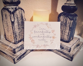 Fearfully and Wonderfully Made Set * Notecards * Gift set * Scripture * Encouragement * Stationary * Faith * Hope * Love