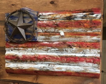 Wood American Flag,Wooden flag,Rustic wood Flag,American Flag,Wood American Flag,American Wood Flag,Barn Wood,Handcrafted,Painted Flag