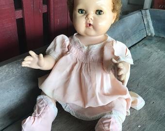 1950s Tiny Tears Baby Doll |  Very Nice 1950s Tiny Tears with Original Clothes