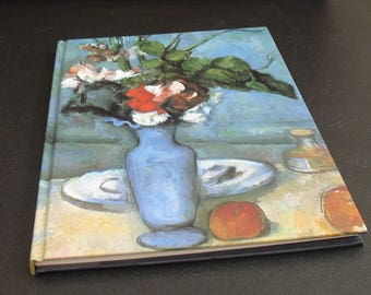 Philadelphia Museum of Art, Cezanne, The Blue Vase, Vintage Hardcover Bound Blank Book, Journal, Sketch Book, Notebook, Diary, Blank Paper