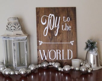 Joy to the World sign - rustic holiday sign - rustic sign - holiday decor - Christmas decor- Christmas gift -gift for her - gift for mom
