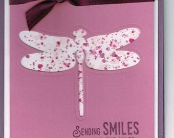 Sending Dragonfly Smiles Card