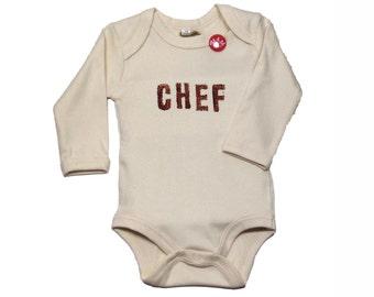 Baby Bodysuit long sleeve & short sleeve organic (beige) - Handbedruckt in the Bittersüß factory in Dusseldorf boss/boss 0-18 months-Babystrampler-