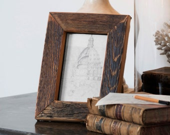 Reclaimed Pine Wood Photo Frame, Size 4x6'', 5x7'', 6x8'', 8x10''