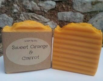 Natural Organic Sweet Orange & Carrot Soap