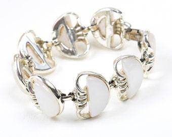 Vintage Coro White Stone Bracelet