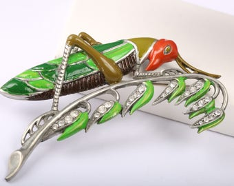 Vintage Marcel Boucher Grasshopper Brooch Reproduction