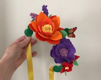 Felt Flower Crown // Flower Crown // Fairy Crown // Flower Girl Crown // Forest Fairy Wreath // Floral Head Wreath