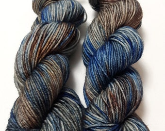 Hand Dyed Yarn - Superwash - Worsted - 100% Merino Wool - Variegated - 'Bear Patrol'