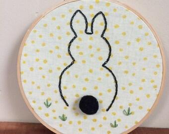 Bunny's Behind Hoop Art