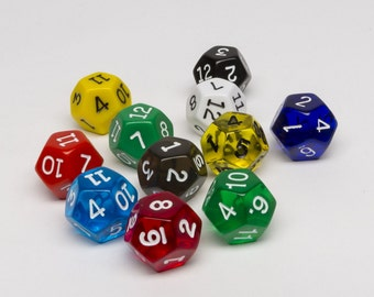 12-sided dice