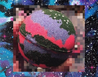 Galaxy Bath Bomb No staining on skin or bathtub, 5.5-8 oz (large and packed with beneficial ingredients) highly pigmented!