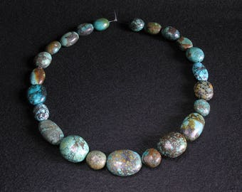 23 Chinese turquoise stone beads