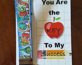 ABC Key chain with Teacher Appreciation Card
