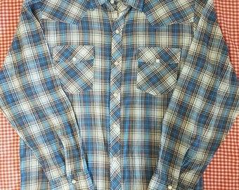Vintage Ambassador L/S western shirt Medium