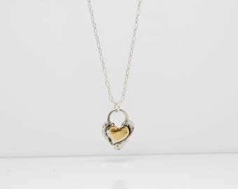 Silver Layering Necklace/ SIlver Heart Necklace / Silver Necklace