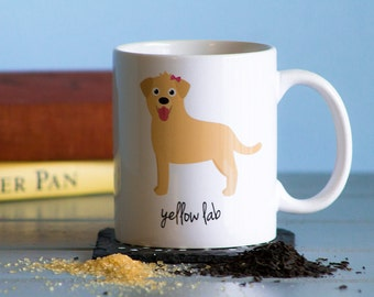 Yellow Lab Mug (girl)