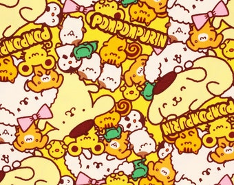 """Pompompurin Sanrio Character Fabric made in Japan, 45cm by 53cm or 18"""" by 21"""""""