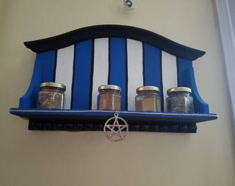 Hand-painted Witch Herb Shelf