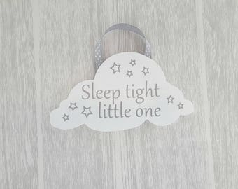Hanging Cloud with Sleep tight little one