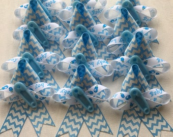 12 Baby Boy Corsage Party Favors