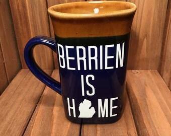 Berrien Is Home Rachel Design Michigan Mug