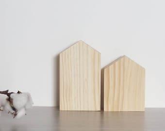 Pack dos casitas de madera
