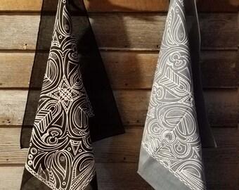 hand-printed bandana