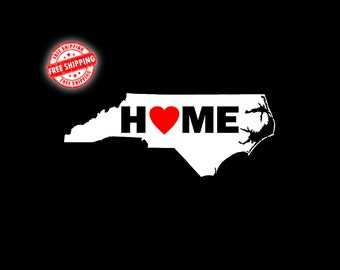 NC Decal, NC, North Carolina Decal, North Carolina, State Decal, Decals, Stickers, Car Decal, Window, Vinyl Decal, Home Decal, Laptop Decal