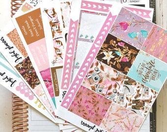 Spring planner sticker kit weekly kit for ECLP Erin Condren Life Planner and MAMBI Happy Planner Ready to Ship!