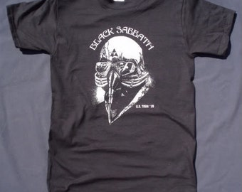 Black Sabbath t-shirt rock classic vintage style US Tour ironman tony stark mens ladies kids