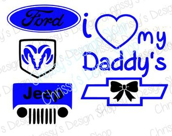 chevy truck logo SVG / 4x4 svg / daddy's 4x4 svg /silhouette cut file / daddy love svg / baby svg / vinyl crafts / 4x4 clip art / clipart